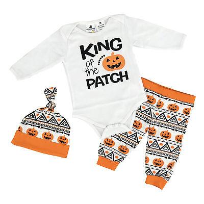 Baby Boys Halloween Layette Set Boutique Newborn Infant Clothes Cap US 3m 6m 12m - Boutique Infant Clothes
