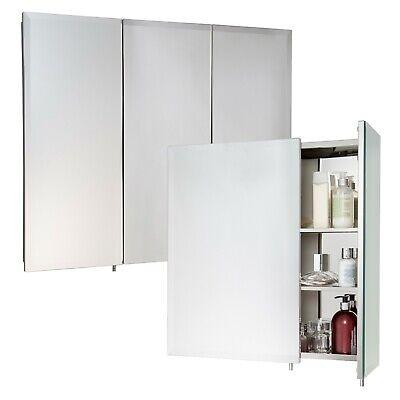 2 Or 3 Door Stainless Steel Wall Mounted Mirror Bathroom Cabinet Hang N Lock NEW 2 Door Hanging Wall Cabinet