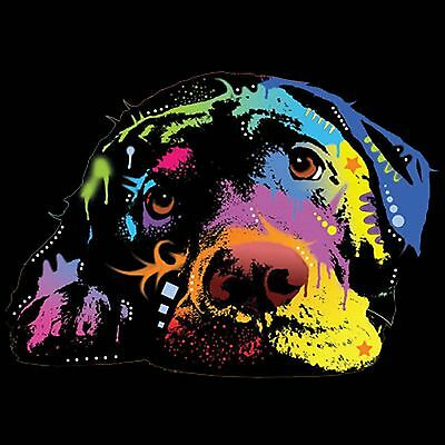 Labrador Dog T Shirt Neon Cute Puppy Eyes Small to 6XL Big Tall