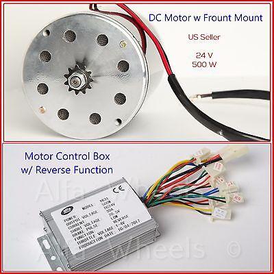 0.7 Hp 24v Dc Electric Motor Kit W Reverse Control Box F Gokart Trike Eatv Diy