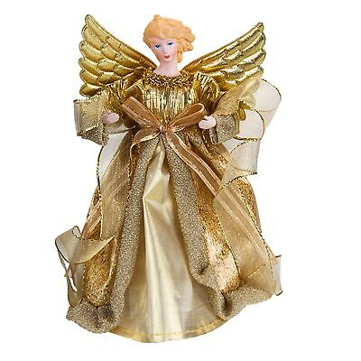 21cm Christmas Tree Topper Angel Decoration - Gold