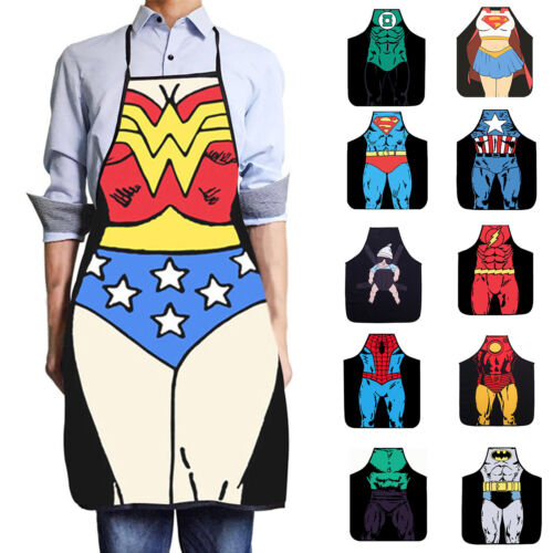 Unisex Adult Muscle Kitchen Apron Restaurant BBQ Novelty Sup