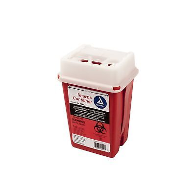 Dynarex Sharps Container - Biohazard Phlebotomy Needle Disposable - Puncture ...