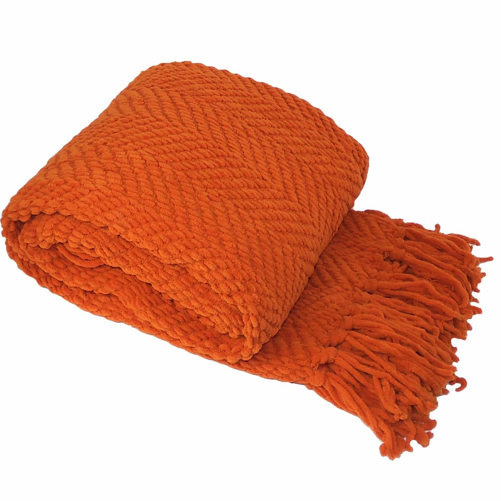 """BOON Knitted Jumbo Tweed Throw Blanket Couch Cover, 60"""" x 80"""