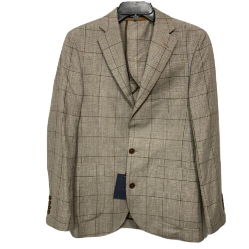 $295 Hart Schaffner Marx Blazer Sport Coat Jacket Small Brown Check Clothing, Shoes & Accessories