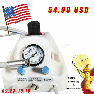 Dental Portable Air Turbine Unit 4 Hole Tube 3-way Syringe Pedal Us Free Ship