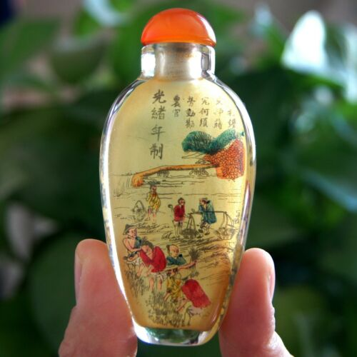 Chinese Handmade Inside painted Guangxu in the Qing Dynasty Snuff Bottle