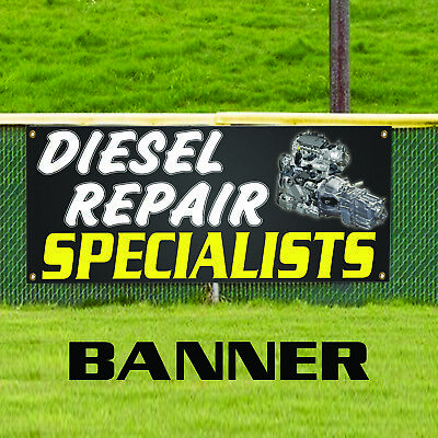 Diesel Repair Specialist Foreign Domestic Business Outdoor Vinyl Banner Sign