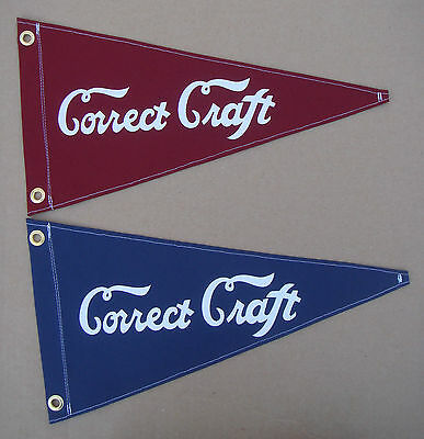 Correct Craft Vintage Style Boat Flag Pennant Retro Nautical Reproduction
