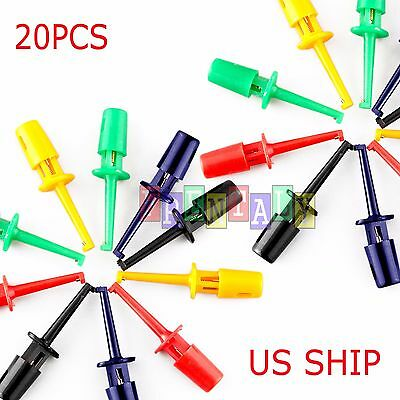 20pcs Wire Kit Test Hook Clip Grabbers Probe For Multimeter Arduino Smtsmd