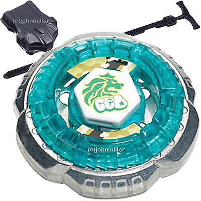 Rock Leone 145WB Metal Fusion Fight Beyblade STARTER PACK w/ Launcher & Ripcord - Rock Toys