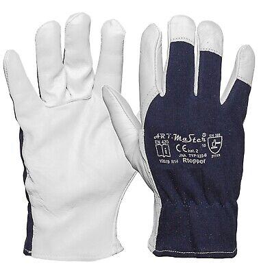 Arbeitshandschuhe Leder Handschuhe Ziegenleder Montage Lederhandschuhe Baumwolle