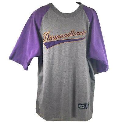 Genuine MLB Arizona Diamondbacks Vintage 90s Sewn Script Logo T-Shirt Mens XL VG