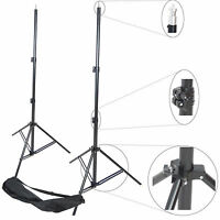 Kit 2x Cavalletto Stativo Professionale In Alluminio Con Ammortizzatori 240cm -  - ebay.it