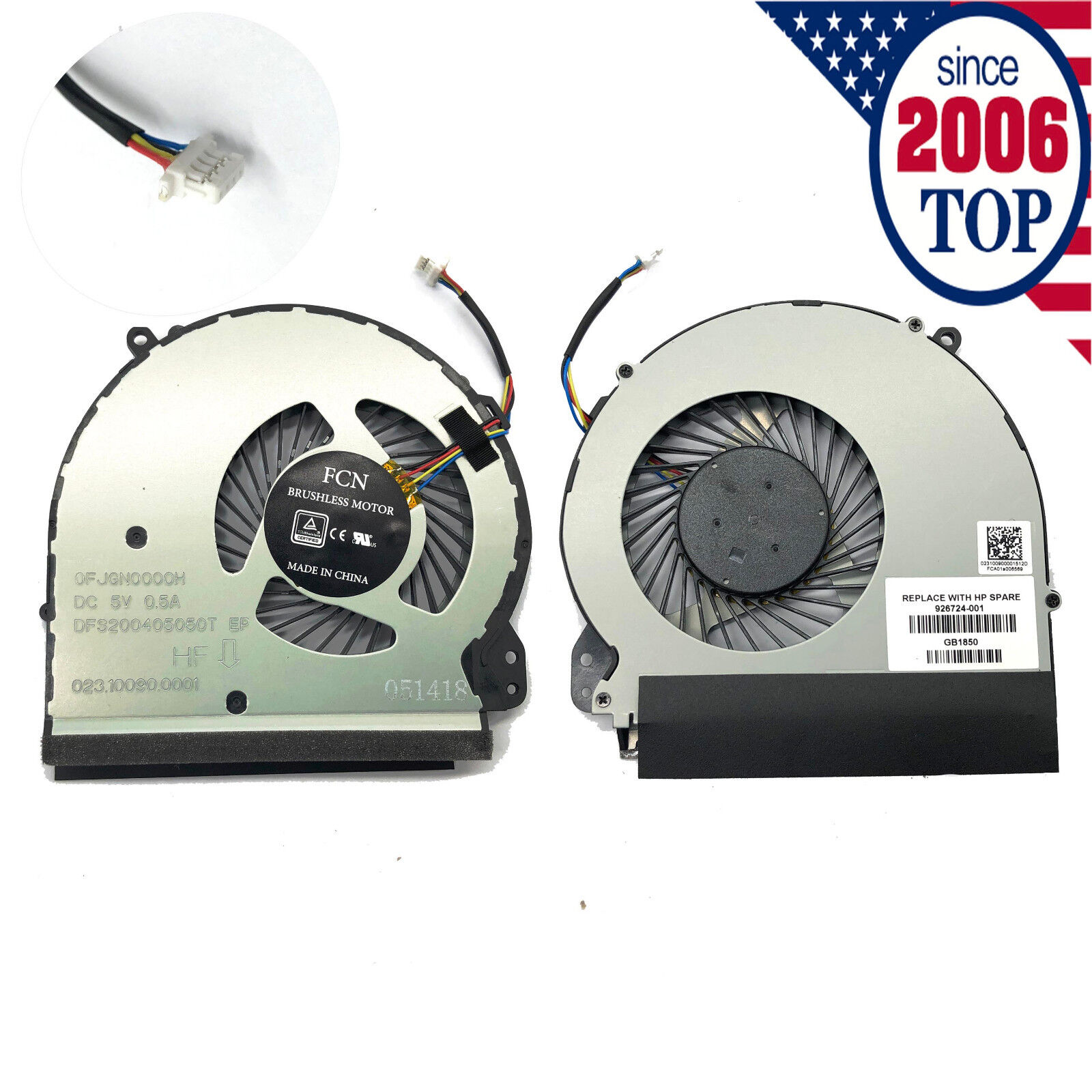 New CPU Cooling Fan For HP Notebook 17-X 17-Y 17-E 17-BS Ser