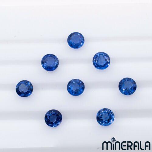 NATURAL NEPAL ROYAL BLUE LIGHT KYANITE LOOSE GEMSTONE ROUND FACETED 5mm WP0028D