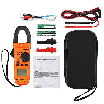 6000 Counts Digital Clamp Meter Trms Tester Acdc Auto Range Multimeter Trms Us