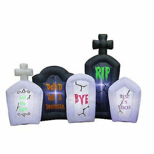 Inflatable Halloween Tombstones Outdoor Light Up Decorations