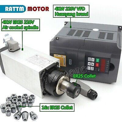 4kw Air Cooled Spindle Motor Er25 300hz 18000rpm Cnchy 4kw Inverter16pc Collet