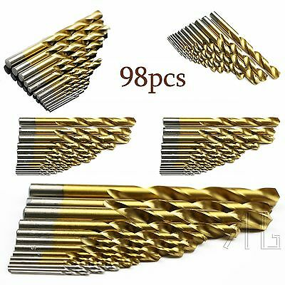 98Piece Stainless Metal Cobalt HSS-Co Steel Drill Bit Set 1.5mm-10mm