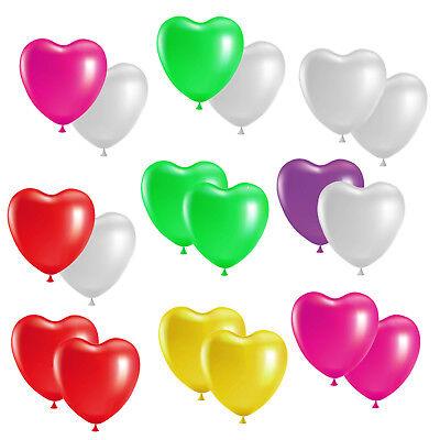 Herzballons 30cm Herz Farbe und Menge wählbar Luftballon Hochzeit Helium