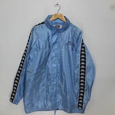 Kappa Repeat Logo Windbreaker Light Jacket Size XL Baby Navy Blue