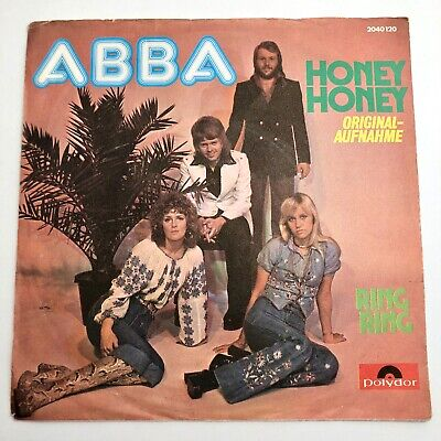 ABBA  Ring, Ring & Honey, Honey Picture Sleeve 45 RPM Record