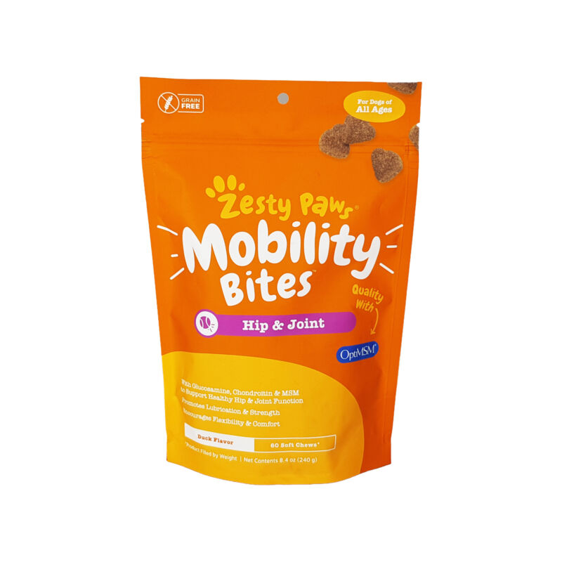 Zesty Paws Hip and Joint Mobility Bites for Dogs – 60 ct