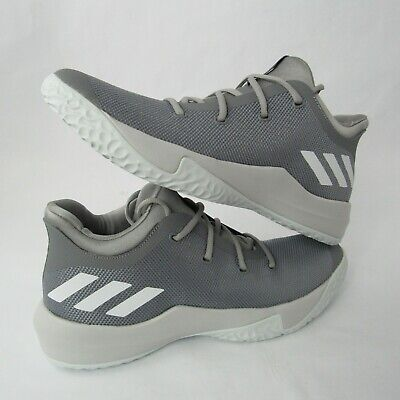 Adidas Rise Up 2 Ankle High Basketball Shoes Gray White CQ0557 Sizes 9 10.5 11.5