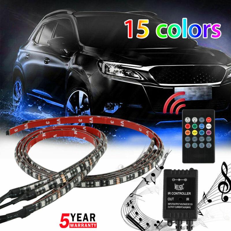 4PCS Waterproof RGB LED Under Car Tube Strip Underglow body Neon Light Kit 12V