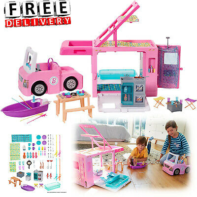 Barbie Camper House Car Vehicle Furniture Accessories Dream Playset Pop Up
