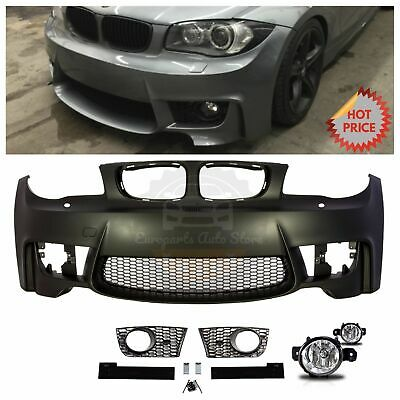 BMW 1M STYLE FRONT BUMPER FOR 2008-13 E82 E88 1 SERIES 128 135 WITH FOG LIGHTS 2010 Bmw 1 Series