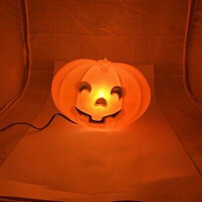 Vtg Blinky Halloween Pumpkin Jack O Lantern Hanging Window Light Up Blow Mold