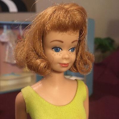 Vintage SL Midge Barbie Doll 1962 #860 Titian Freckles OSS Stand