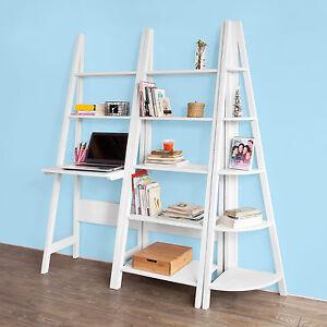 sobuy ladder style bookcase shelving storage display units. Black Bedroom Furniture Sets. Home Design Ideas