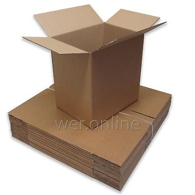 10 x Small Compact Postal Mailing Packaging Cardboard Boxes 12x9x12.5