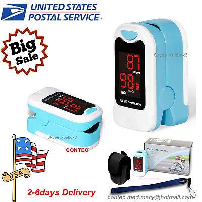 Usa Finger Tip Pulse Oximeter Spo2 Heart Rate Monitor Blood Oxygen Meter New