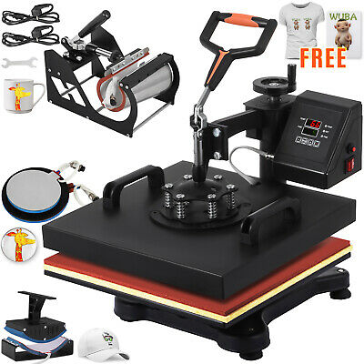 5 In 1 Heat Press Machine Transfer 12x15 T-shirt Printer Diy Hot Stamping
