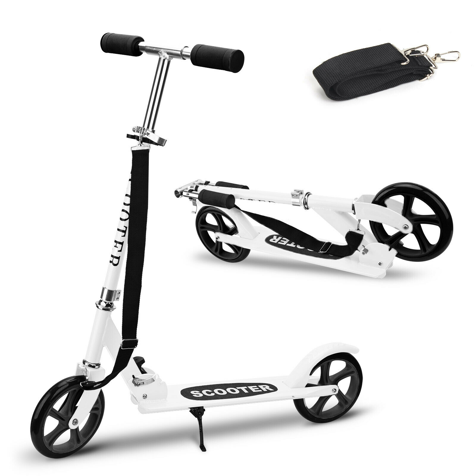 Adult Kick Scooter Folding 2 Wheels Ride Portable Lightweigh