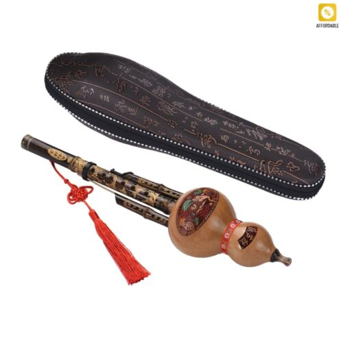 Flute Ethnic Musical Instrument Key Of C With Case Hulusi Gourd Cucurbit Musics