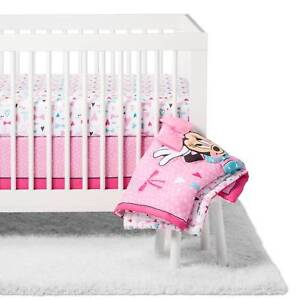 01399a7b2 4pc Disney Baby Girls Minnie Mouse All About The Bows Crib Bedding ...