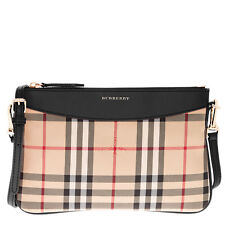 Buy and sell Burberry Women's Horseferry Check Peyton Clutch Bag Beige + Black near me