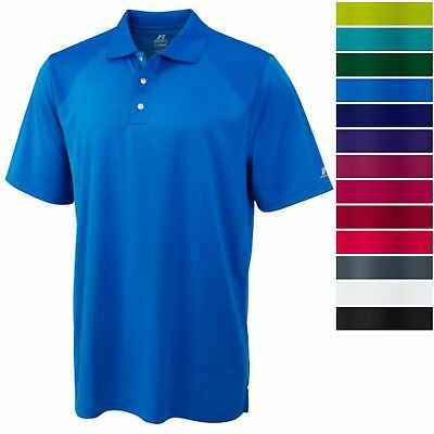Russell Athletics Men's DRI-POWER Golf Polo Athletic Short S