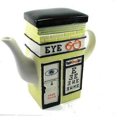 MSRF Eye Glass Store / Real Estate Porcelain Teapot - Dual Sided