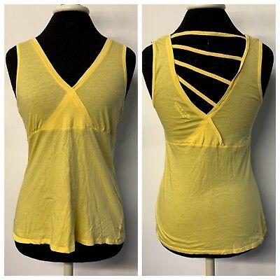Organic Cross Back Tank - Royal Robbins Yellow Cross Back Tank Top 100% Organic Cotton Womens Size Small