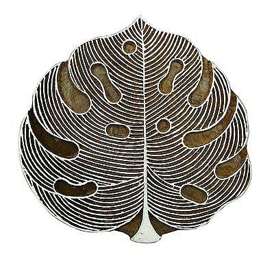 Handgeschnitzt Blätter drucken Block Holz Textile dekorative Stempel Blockprint - Hand Geschnitzten Blättern