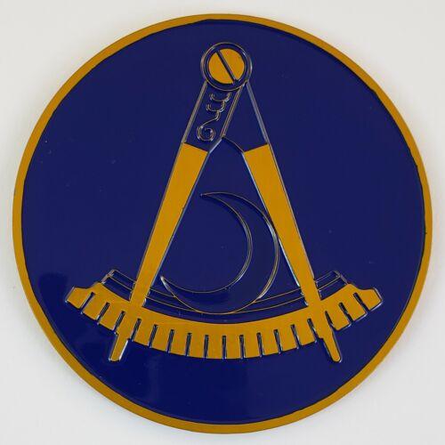 Auto Emblem District Deputy Grand Master DDGM Aluminum Masonic Freemason Mason
