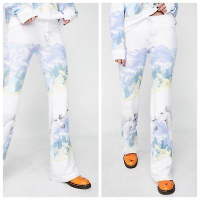 Set Wildfox Wild Horses Sweatshirt Pants shirt Top White Size M