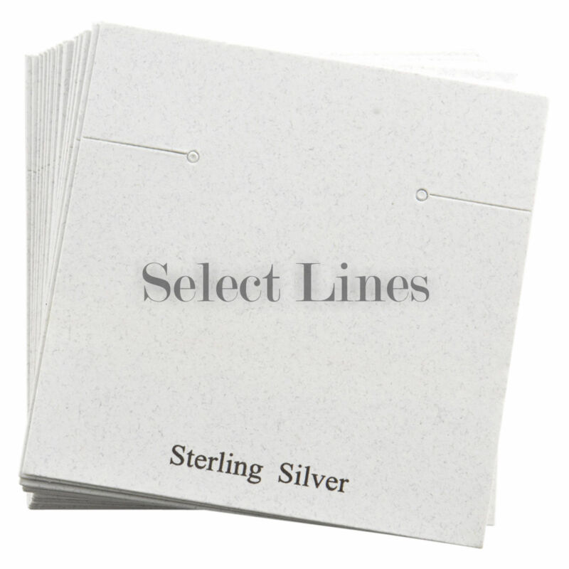 """200 Silver White Earring Jewelry Cards 2.5 x 2.5"""""""