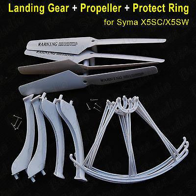 White Landing Gear+Propeller+Protect Ring for Syma X5SC X5SW RC Quadcopter Parts